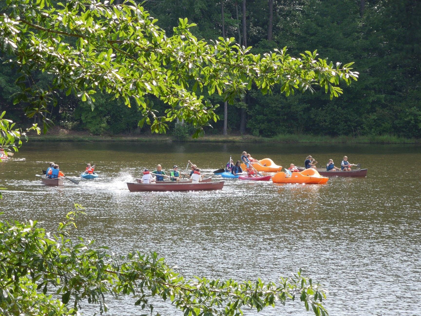 Camp Woodland Canoeing