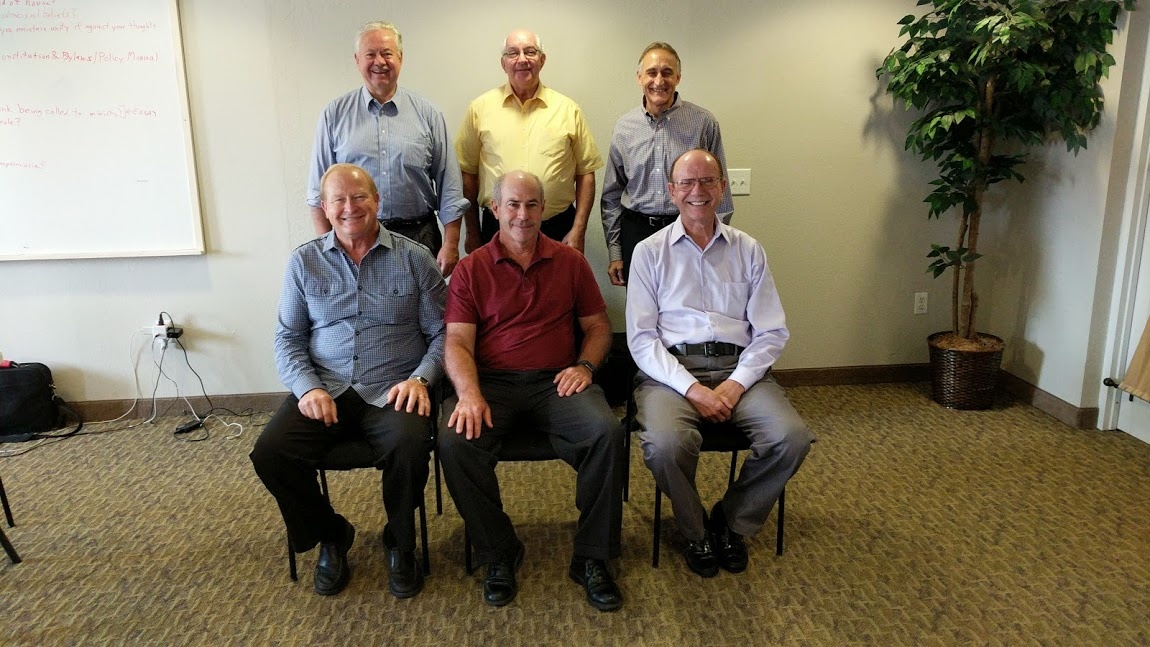 Back row: Steve Nutzman, Mitch Knapp and Steve Myers. Front row: Jim Tuck, Mark Welch and Ken Martin.