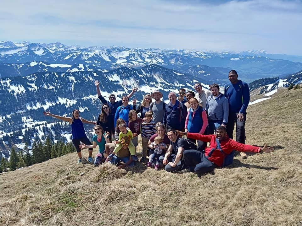 Brethren who participated in the European Young Adult Spring Activity in recent years enjoyed hiking in the Alps.