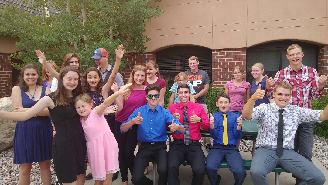 Youth in Frisco, Colorado at the special Youth Day service.