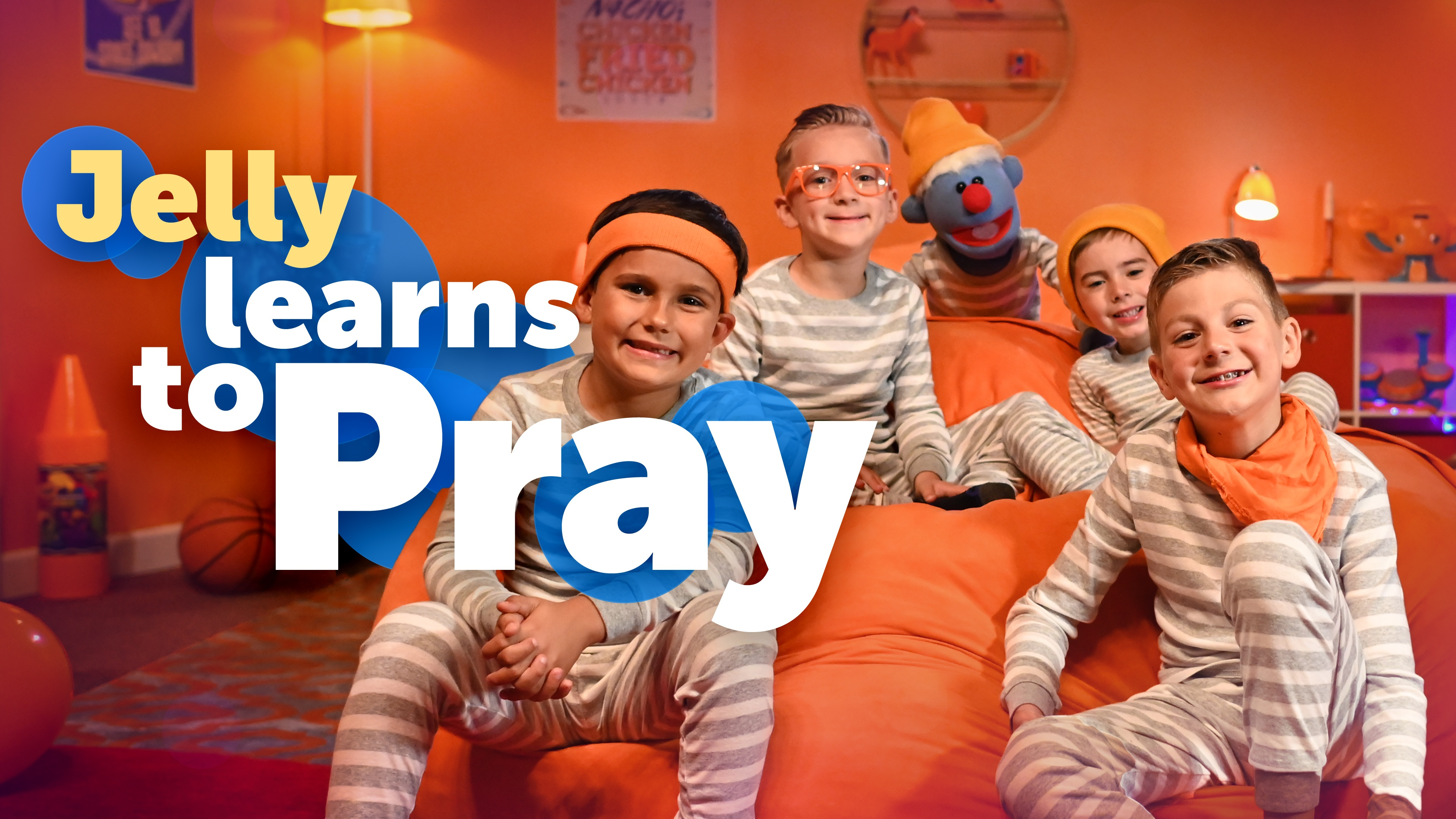 """This is a graphic of the new Jelly video, """"Jelly Learns to Pray."""""""