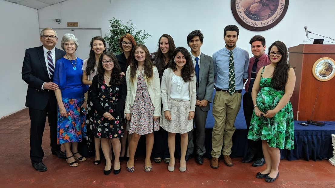 Victor and Beverly Kubik with the recipients of the LifeNets scholarships in Santiago, Chile. There were 36 Latin American UCG students who recieved the scholarships. However, there are many from other various countries who also recieved the LifeNets scho