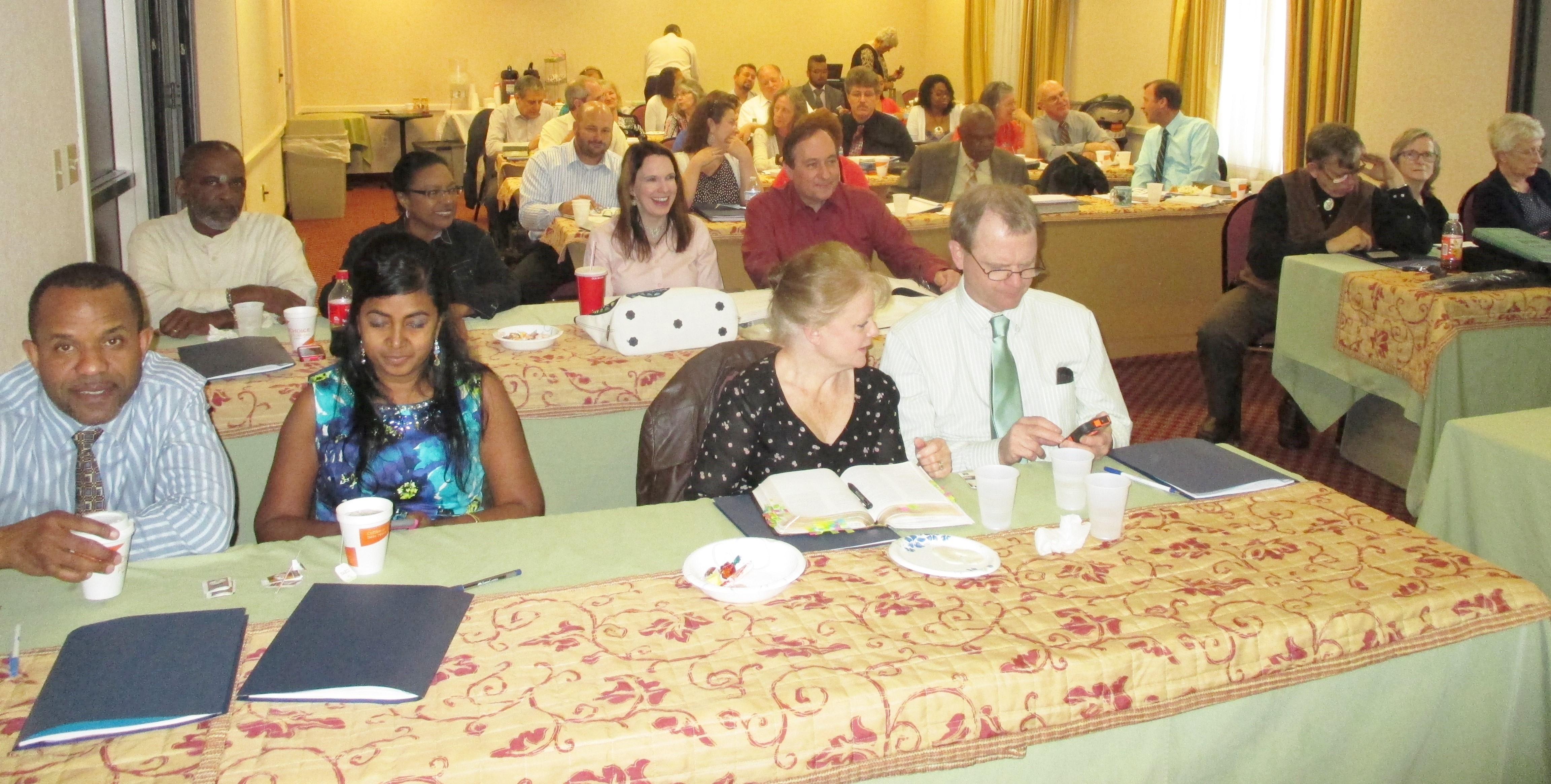 Church members who participated in the Marriage Enrichment Workshop in Maryland.