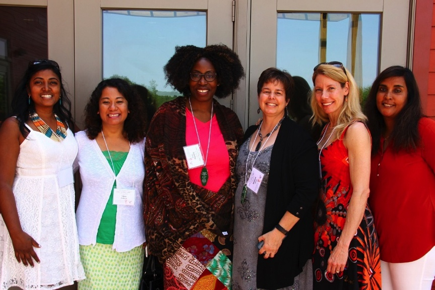 A group of attendees at the Mid-Atlantic Women's Enrichment Weekend.