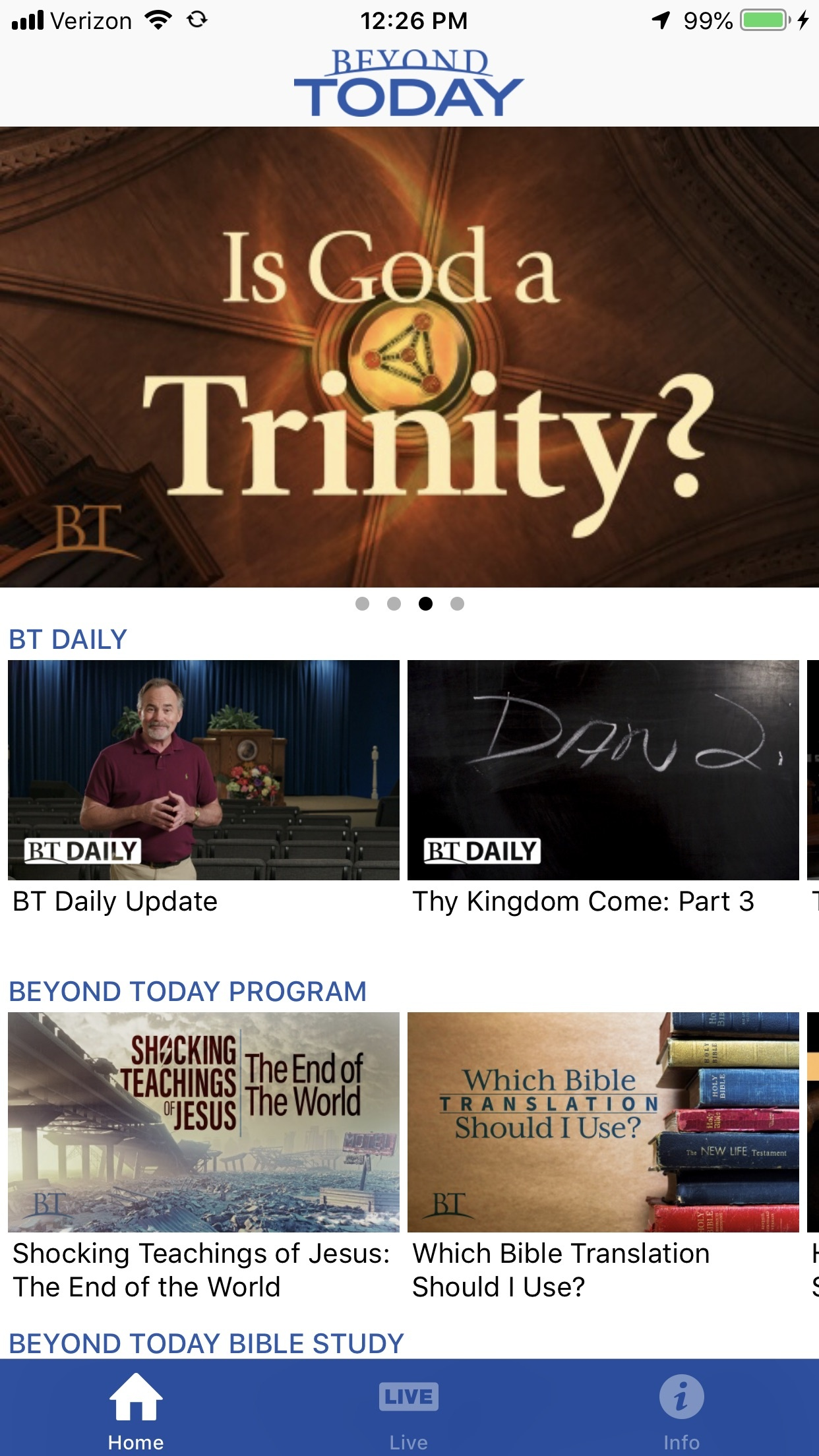 NEW! Beyond Today TV App for iPhone | United Church of God