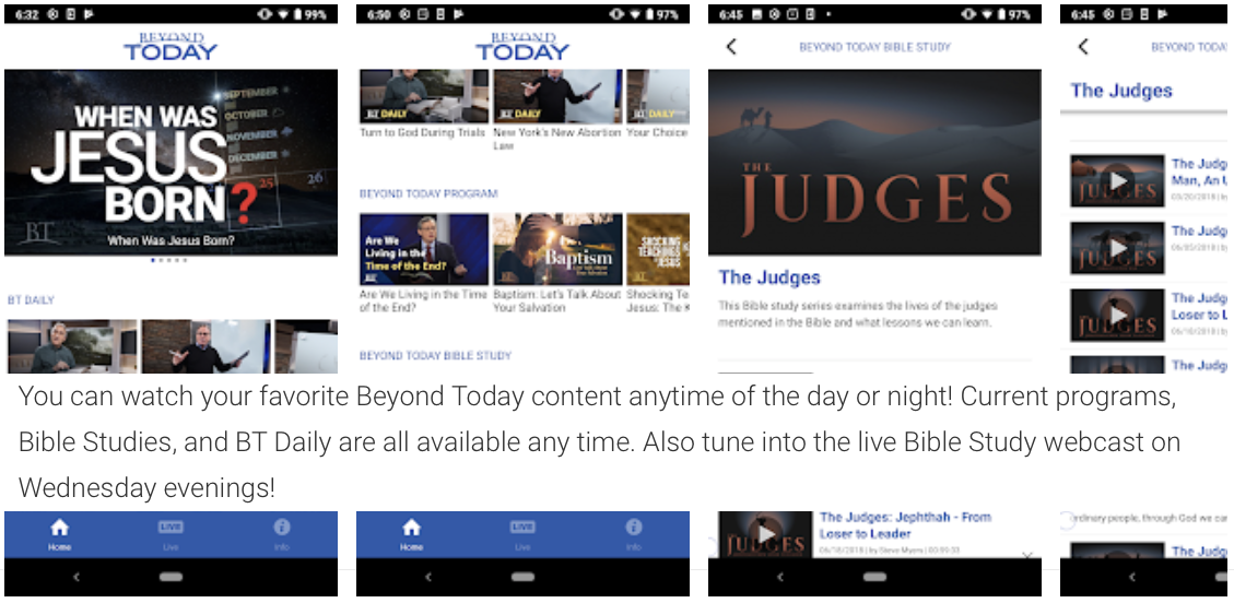 NEW! Beyond Today TV App on Google Play: Android Devices Now