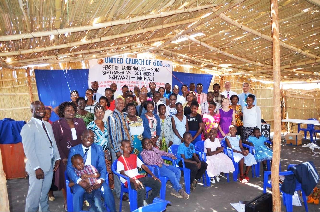 Members at the 2018 Feast of Tabernacles in Nkhwazi, Malawi.
