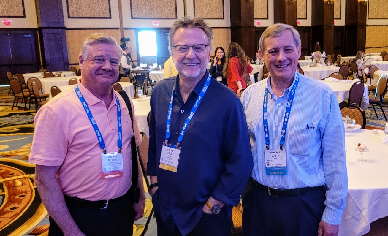 Phil Cooke with Peter Eddington and Gary Petty at the National Religious Broadcasters Conference in Dallas, Texas.