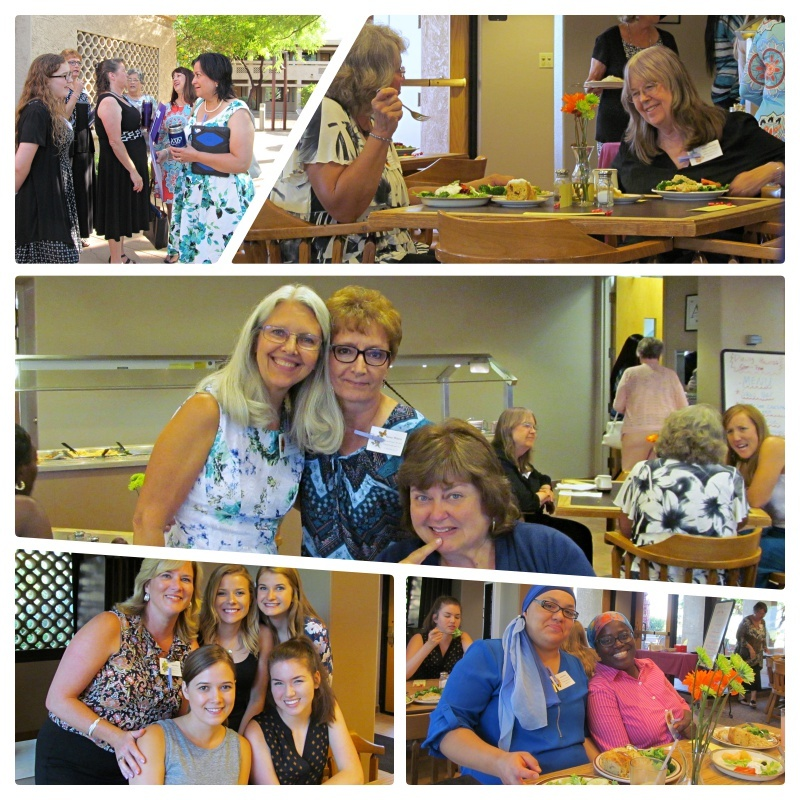 A collage of photos featuring women who attended the Phoenix Women's Enrichment Weekend.