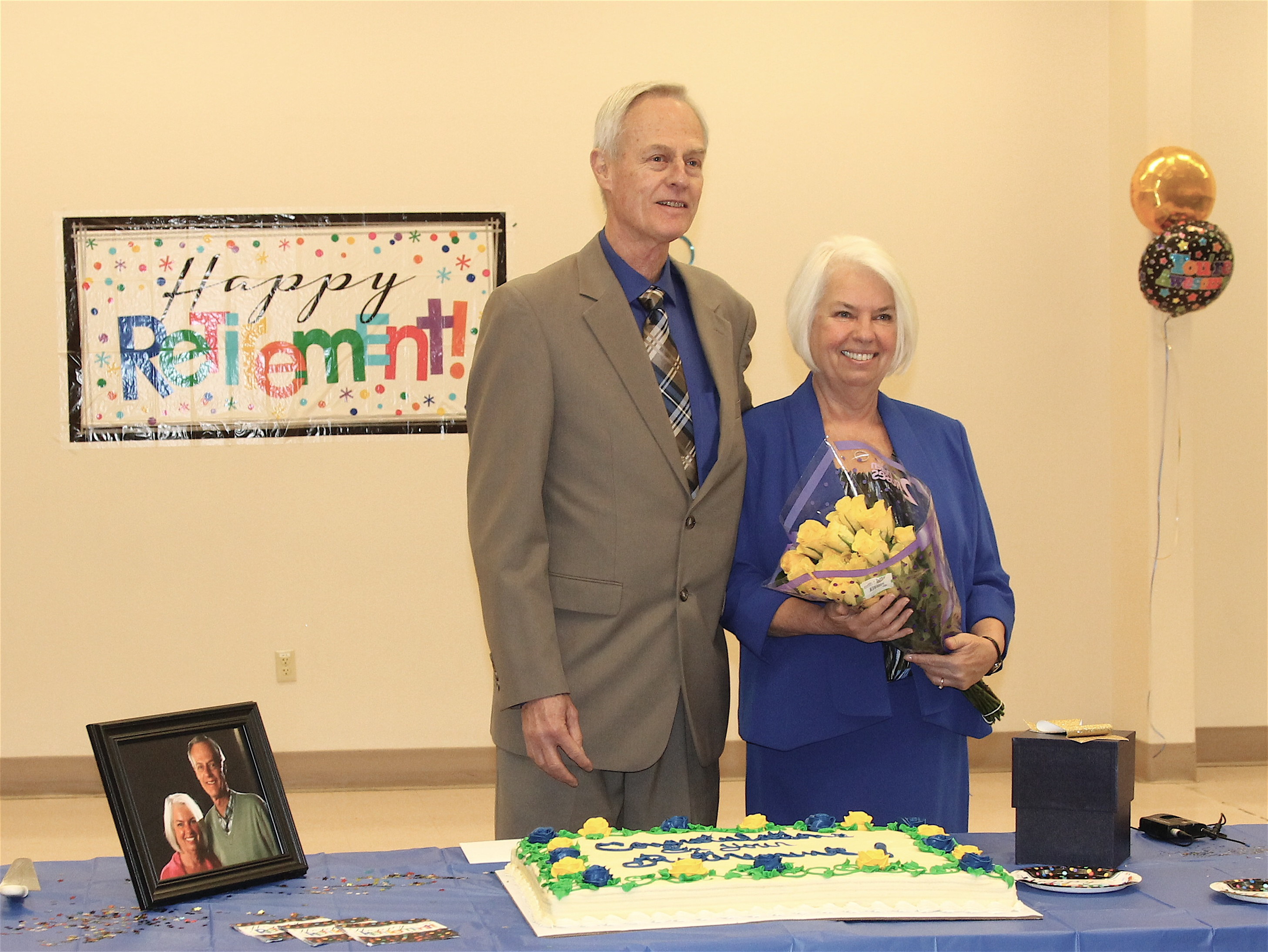 Larry and Karen Walker at their celebration at the Feast of Tabernacles in Bend, Oregon.