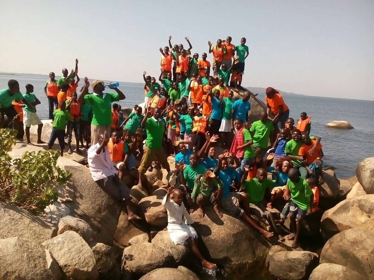The campers and staff at the United Youth Camp in Kenya.
