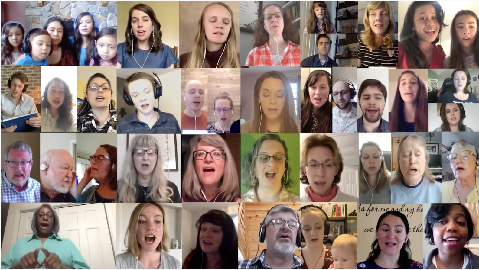 """A virtual choir of Church of God members sang """"How Good and How Pleasant"""" for Special Music at the morning service of Last Day of Unleavened Bread."""