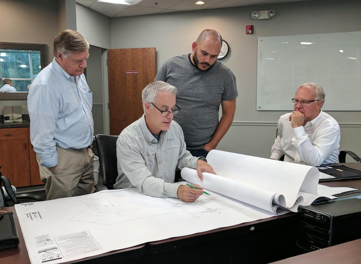The most recent studio planning meeting was held on August 4 with Mark Bredemeier (KBA Architects), Mike Barnard (M.L. Barnard, Inc.), Peter Eddington, Rudy Rangel, Tim Sipes and Kubik.