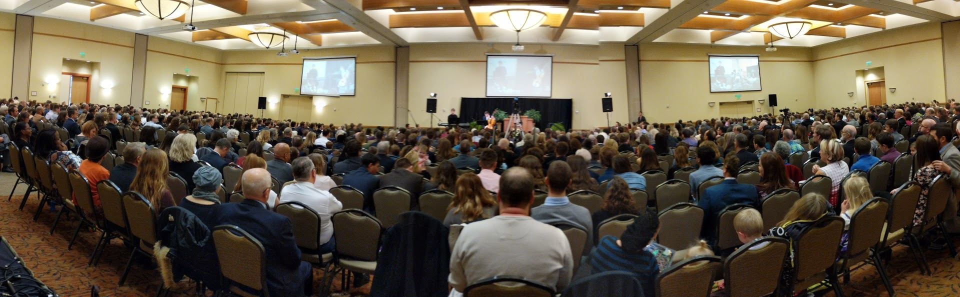 Church service at last year's Winter Family Weekend.