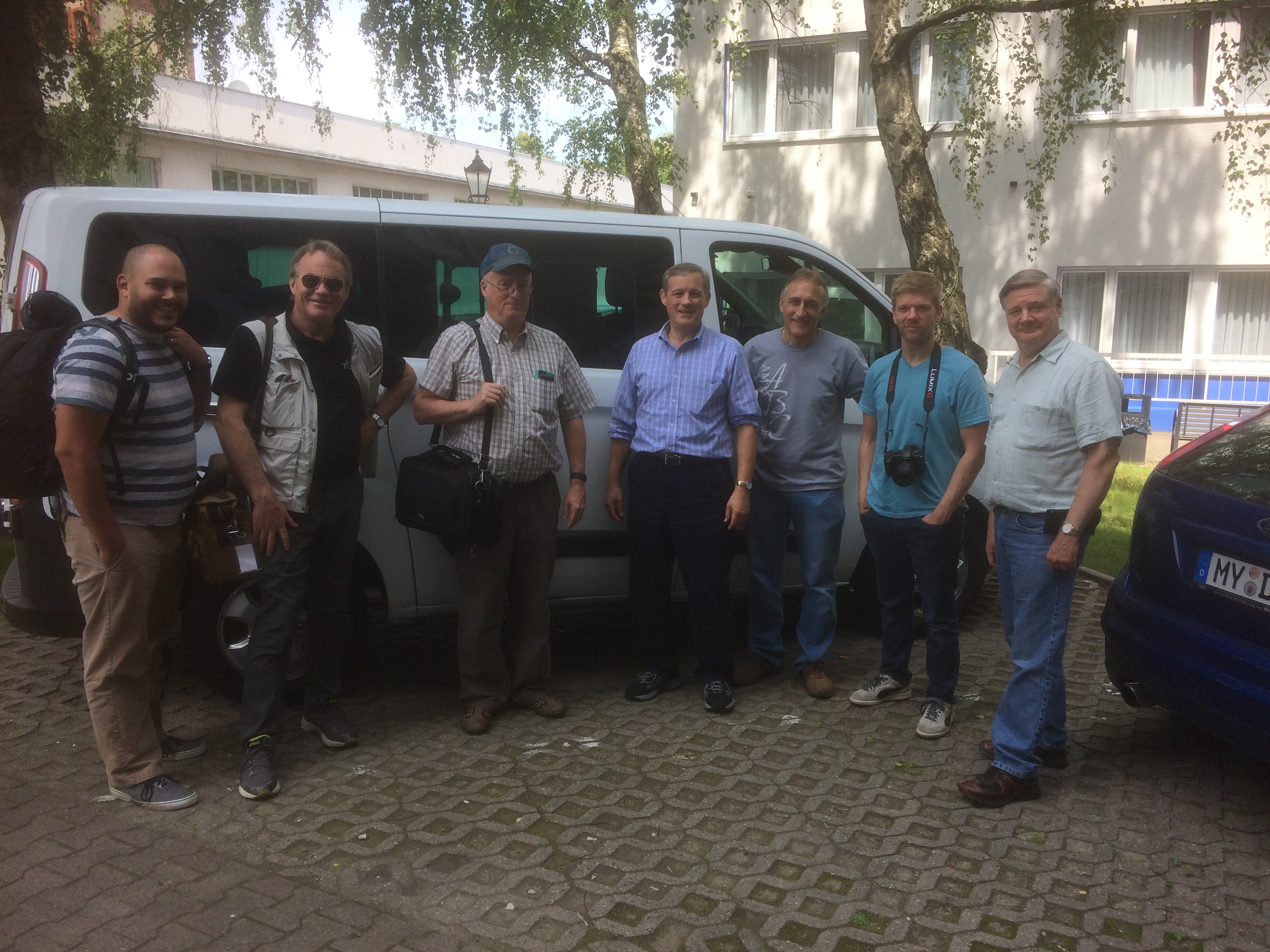 The Beyond Today team in Germany ready to record several episodes.