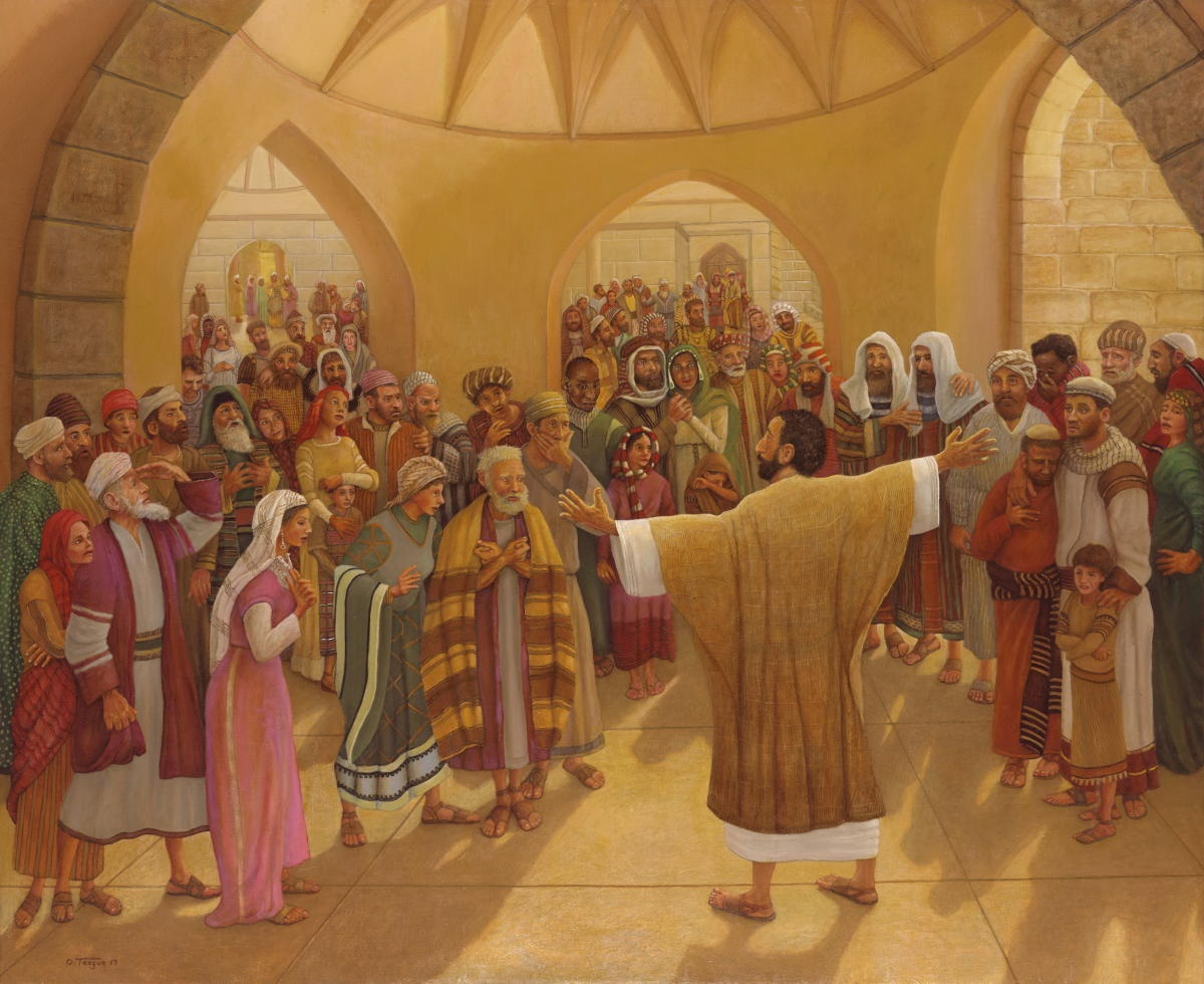 Painting representing the day of Pentecost.