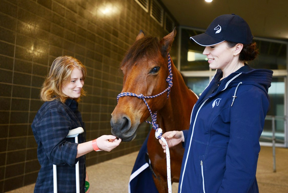 Equestrian therapy with Emily Gerhardt.