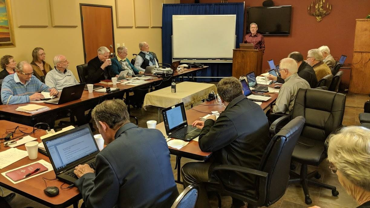 The Council of Elders met for its quarterly meeting all this week in Big Sandy, Texas.