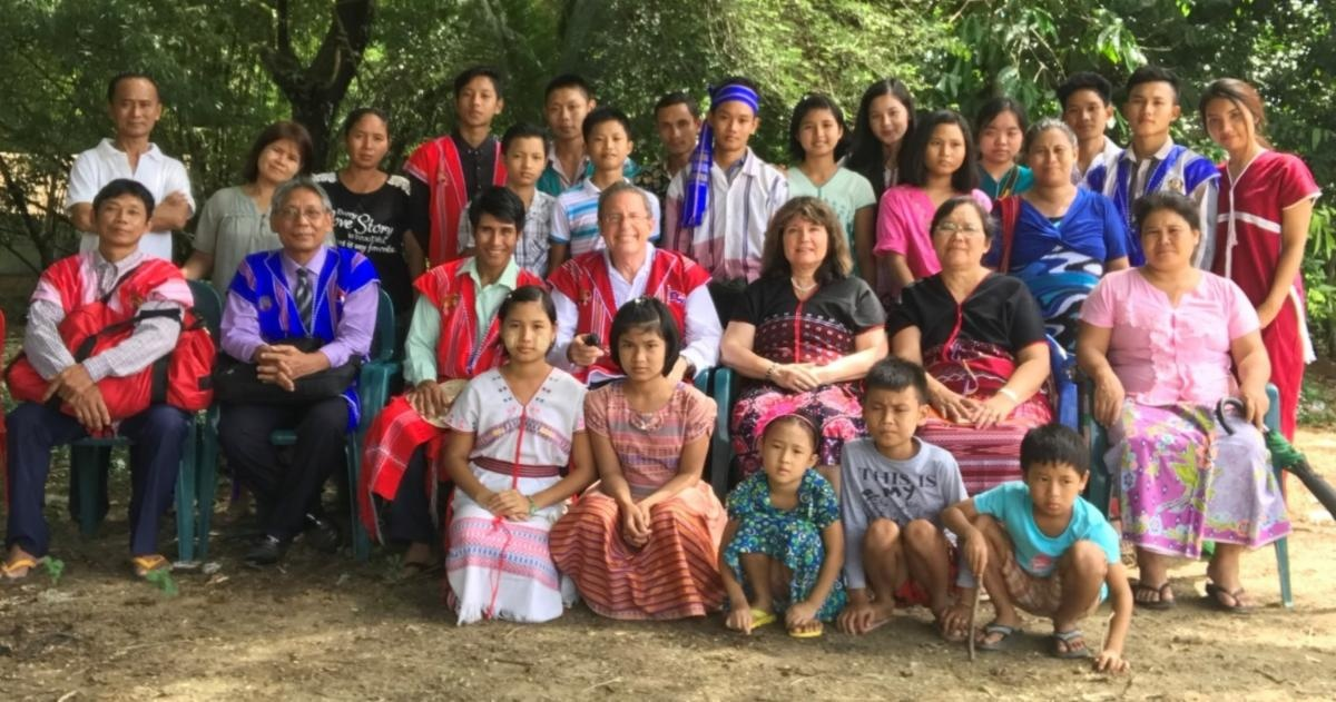 Aaron and Michelle Dean with our brethren in Myanmar.