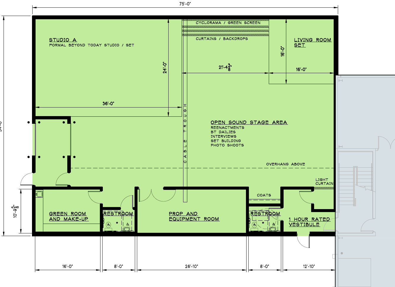 Video recording studio plans being drafted united church of god studio first floorg ccuart Images