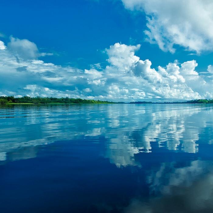 Crossing the Demerara River, Guyana