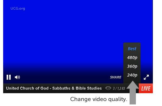 Change Ustream video quality