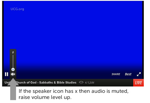 Unmute Ustream audio