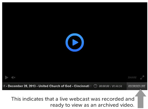 Recorded live indicated an archived webcast video.